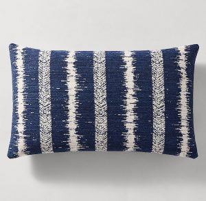 Line blue Pillow Small